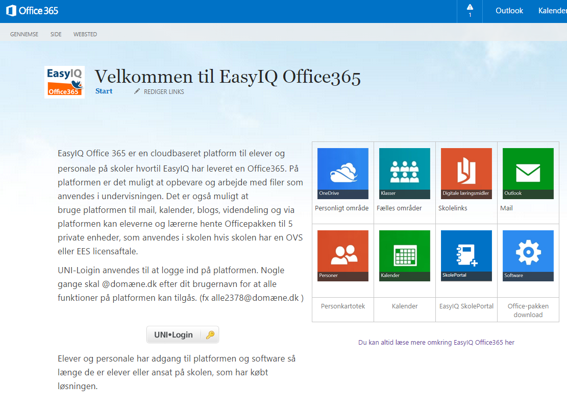EasyIQ Office365 - public website