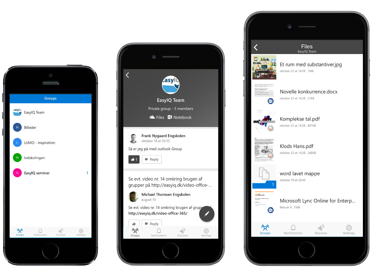 iphone-5-6-Office365 groups app
