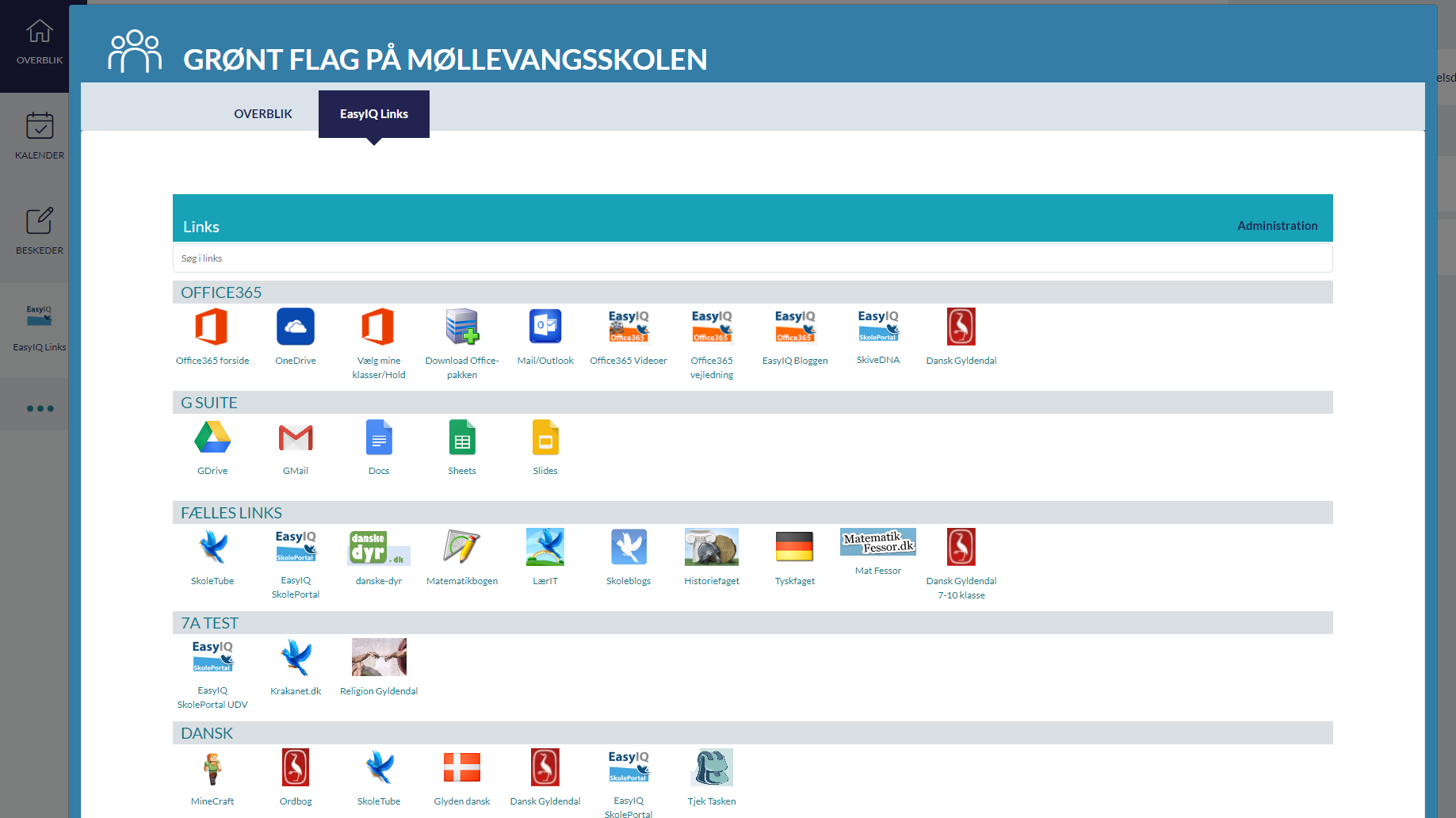 EasyIQ Link widget grupper